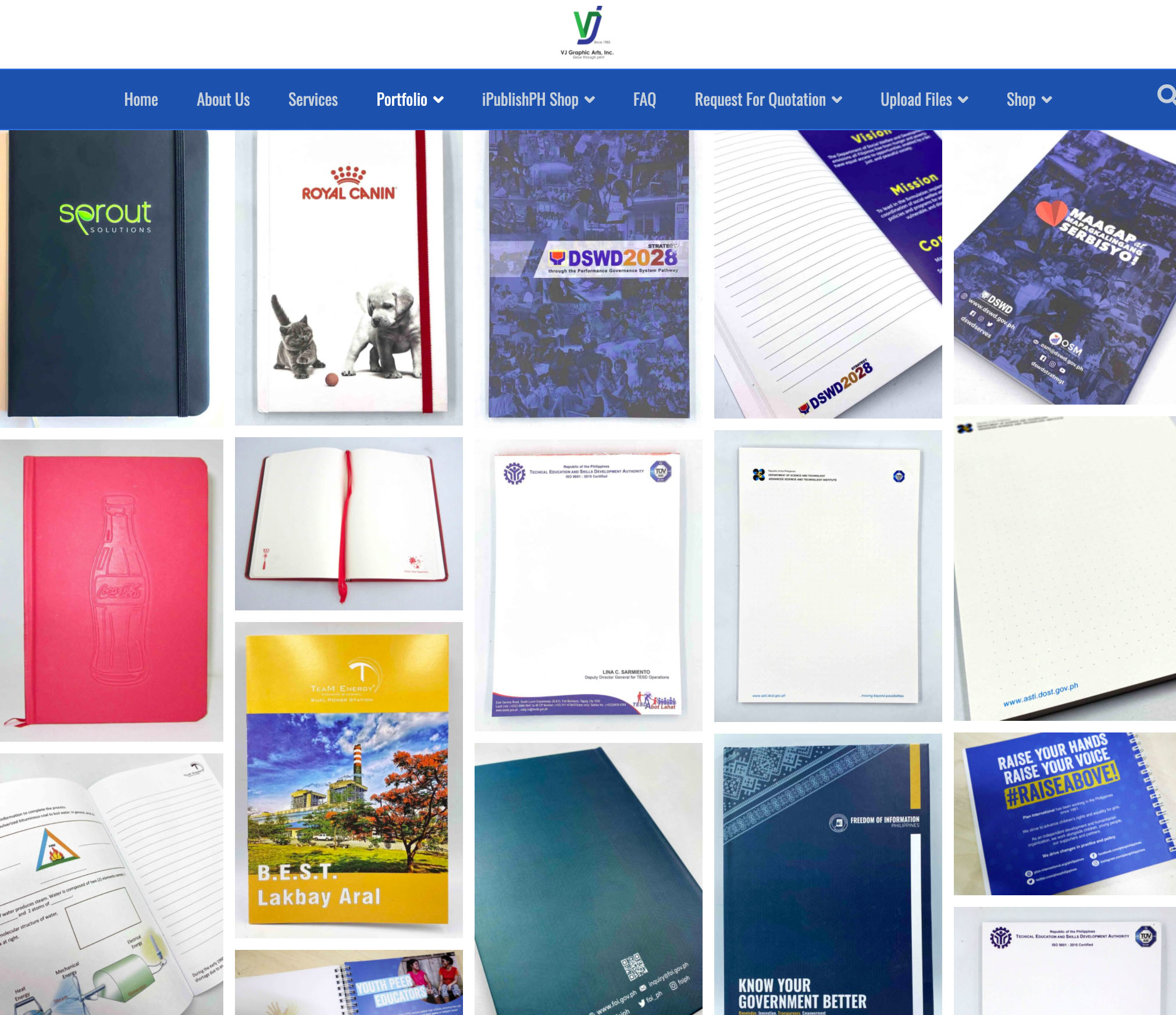 VJ Notebooks Page
